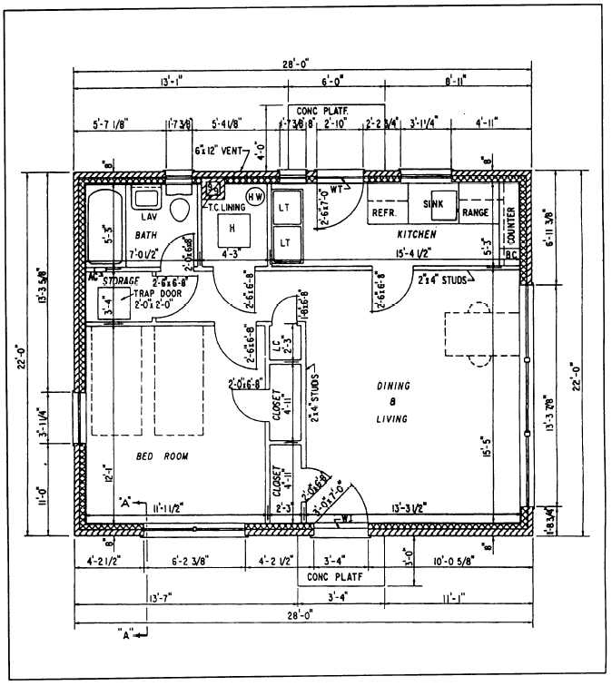 Figure 7 11 floor plan for How to read foundation blueprints