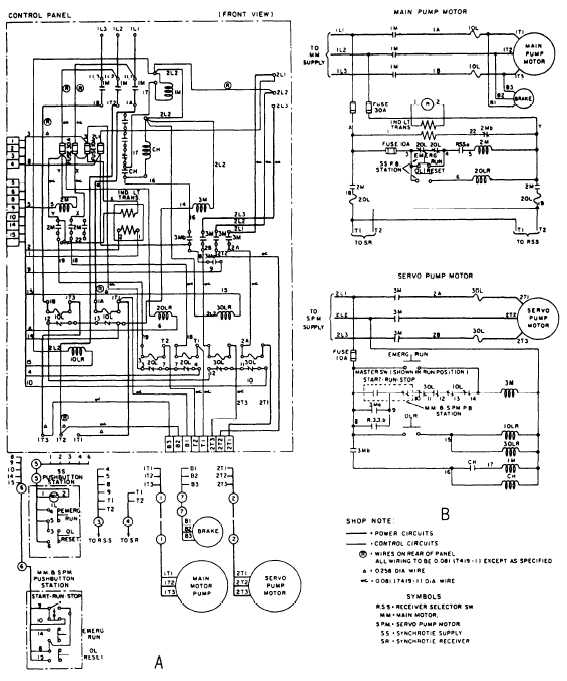 aircraft wiring diagram legend