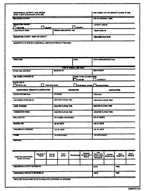Figure 127 Job Order