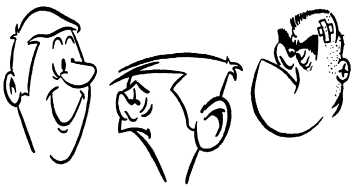 creating character with cartoon heads