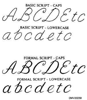 Printables Script Letters script letter group classifications continued the includes letters cursive and swash letters